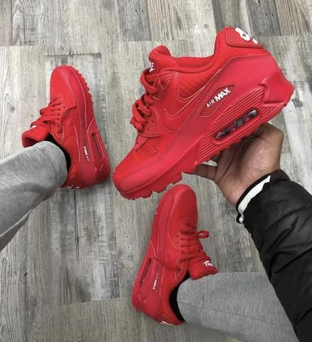 NIKE AIR MAX 90 ALL RED | nike shoe in 2019 | Red nike shoes