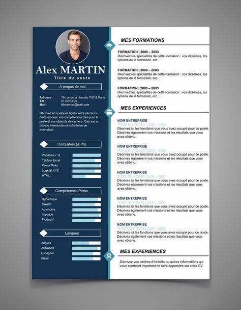 Nouveau Modele De Curriculum Vitae Cv 40 Maxi Cv Cv Template Resume Design Template Cv Words
