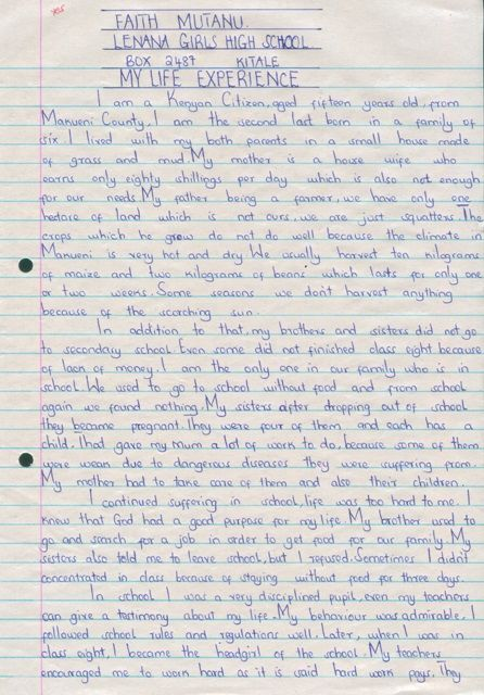 University Experience Essay College Life About Sample Your