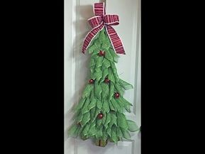 How To Make A Christmas Tree With Poly Burlap Mesh Youtube Mesh Christmas Tree Christmas Tree Wreath Diy Burlap Christmas Tree