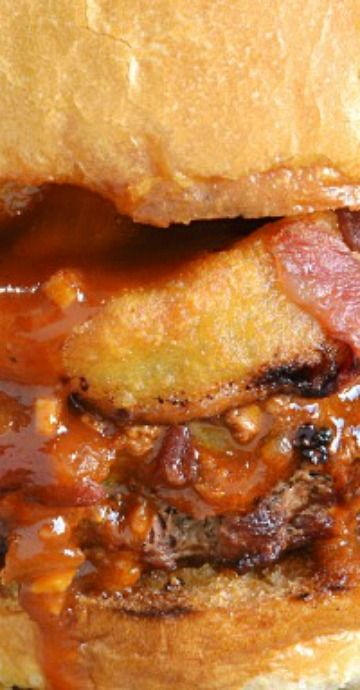 loaded chili cheeseburgers recipe with images chili cheese burger recipes pinterest
