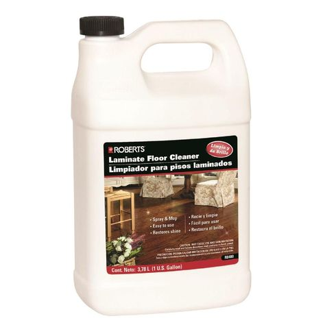 Roberts 1 Gal Laminate And Wood Floor Cleaner Refill Jug Wood Floor Cleaner How To Clean Laminate Flooring Flooring