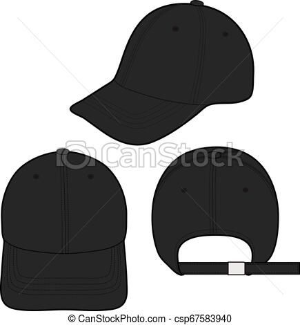 Baseball Cap Fashion Flat Sketch Template Vector Stock Illustration Royalty Free Illustrations Stock Clip Baseball Caps Fashion Fashion Flats Baseball Cap