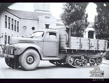 3-Ton Half-Tracked Ford (Australia) truck fitted with tracks from a Universal Carrier. One of the many attempts to improve the movement of s. & 3-Ton Half-Tracked Ford (Australia) truck fitted with tracks from ... markmcfarlin.com