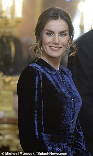 Letizia Of Spain Joins King Felipe Vi In Welcoming Foreign