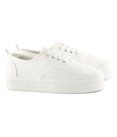 H M White Platform Sneakers White Platform Shoes Platform Sneakers White Platform Sneakers