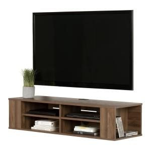 South Shore City Life Natural Walnut Tv Stand Up To 48 In 11962