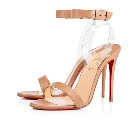 536147f3315b CHRISTIAN LOUBOUTIN Jonatina 100 Nappa Pvc Nappa 100 Nude Transp Nappa - Women  Shoes - Christian Louboutin.  christianlouboutin  shoes