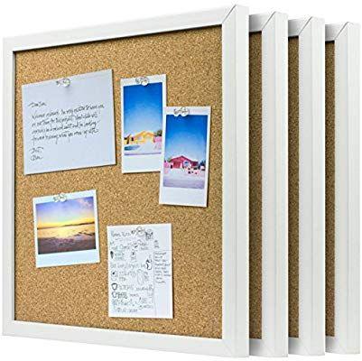 Amazon Com Organice Cork Board Bulletin Board 4x Beautifully Framed 12 X 12 Inch Tiles Reinforced Frame Zero Flaking Sta Cork Board Frame Push Pins