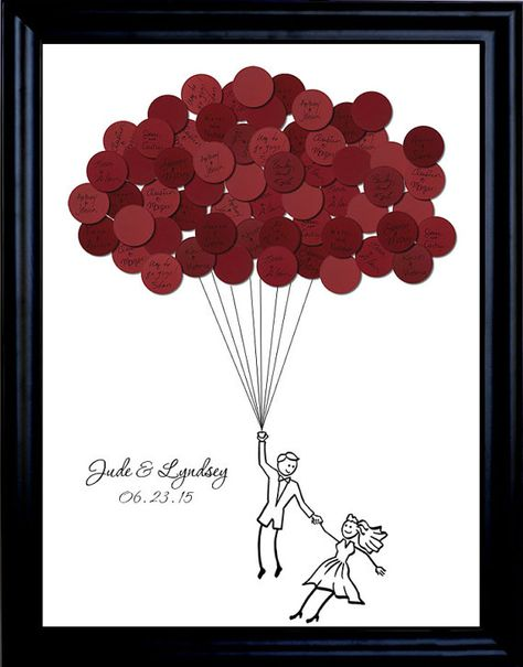 Wedding Guest Book Balloons for up to 75 by SayAnythingDesign