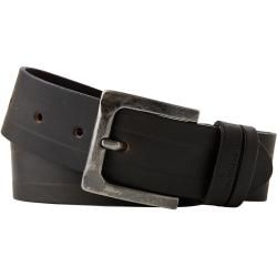 Leather belt for men - Tom Tailor mens leather belt with double flap dark brown plain size 100 Tom TailorTom Tai -