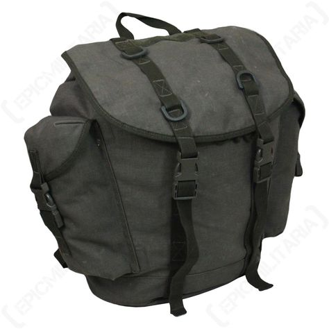 55L Commando Rucksack Olive Green Army Style Camping Hiking Backpack Bag