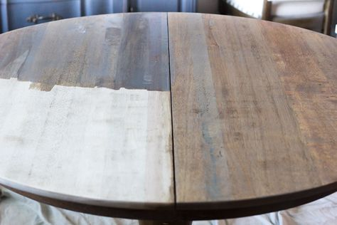 Refinished Dining Set Minwax Weathered Oak And Annie Sloan Original White 1 2 Pure White And 1 2 Old White Oak Dining Table White Oak Table Oak Table