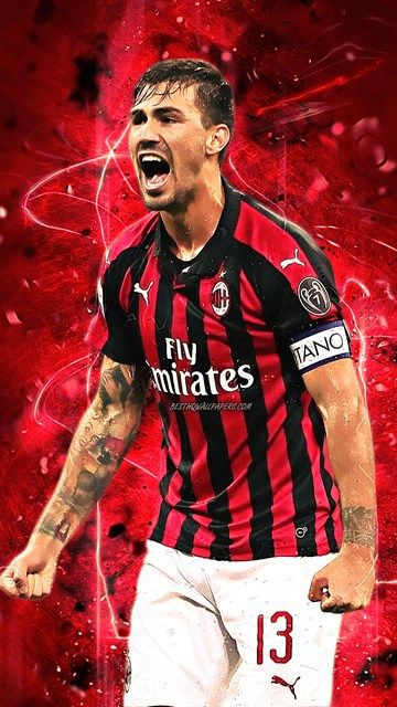 Ac Milan 3d Football Logo Red And Black Background Full Hd