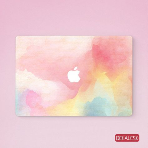 Pink Watercolor Macbook Skin Macbook Skin Macbook Air