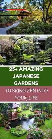 "25 Amazing Japanese Gardens To Bring Zen Into Your Life , 25 Amazing Japanese Gardens To Bring Zen Into Your Life      The Element Water  The element water is one of the most important design tools in the Japanese garden and is used in many ways. In the so-called """"change gardens"""", which invite you to a peaceful and relaxing walk, a pond with small stone Islands. Curved shorelines and a plant hem of sparks, magnificent spars and irises (Iris... #Amazing #Bring #Gardens #Japanese #Life #Zen<br>"