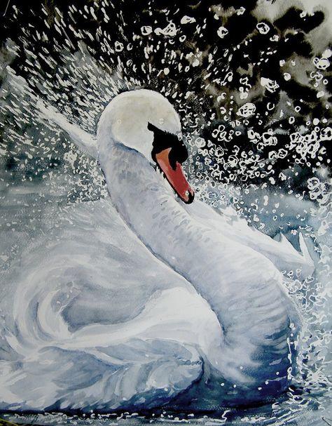 Swan by chatte-bleu on DeviantArt