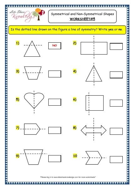 Symmetrical And Non Symmetrical Shapes Worksheets Shapes Worksheets Pattern Worksheet Symmetrical