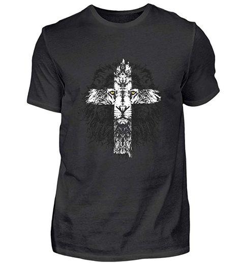 Jesus Löwe Kreuz Christentum Gott Maria Krippe Christlich Weihnachten 2018 Kostüm Geschenk - Herren Shirt -XL-Schwarz