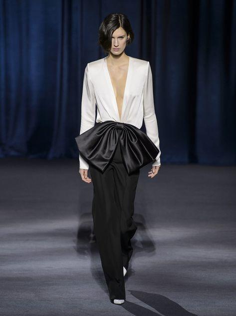 Bow-front V-neck satin blouse | Givenchy | MATCHESFASHION.COM