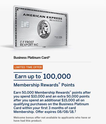 Better Than Amex Business Platinum 100k Bonus Big Spender Offer Https Therewardboss Com B American Express Card American Express Business American Express