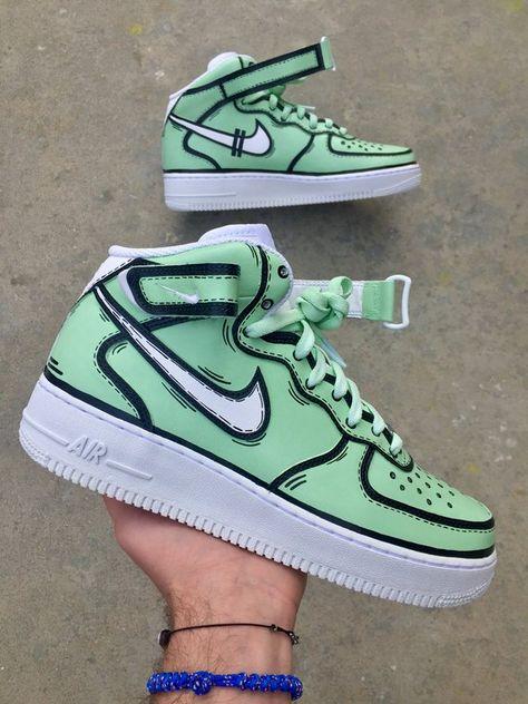 Beautiful Displatter Custom Nike Air Force 1 Ones Hand
