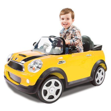 Rollplay 6 Volt Mini Cooper Ride On Toy Battery Powered Kid S Ride On Car Yellow Walmart Com In 2021 Yellow Mini Cooper Mini Cooper Kids Ride On