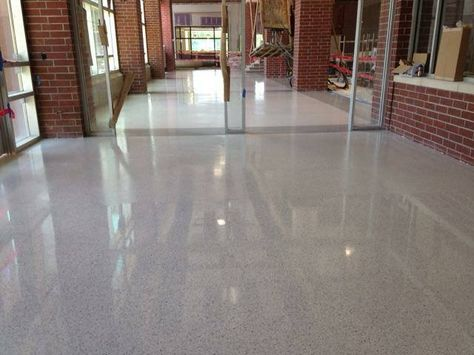Epoxy Terrazzo Floors Completed In Cafeteria At Oak Grove