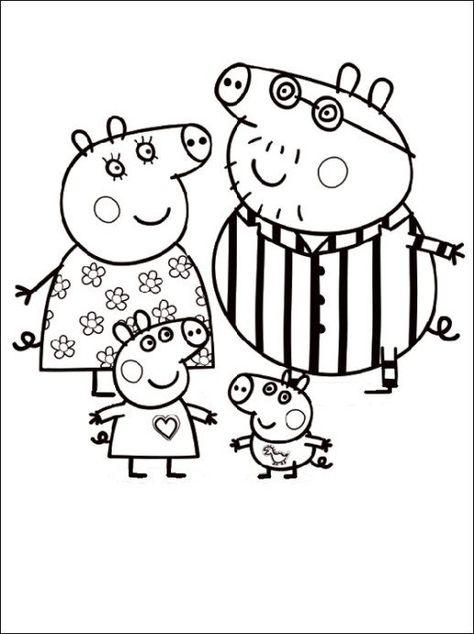 peppa pig cartoon free color pages for kids  ausmalbilder