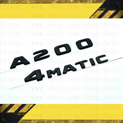 Matte Black Letters Trunk Emblem Emblems Badges for Mercedes Benz C300 4MATIC
