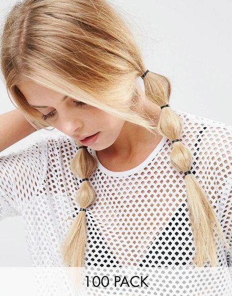 Pin for Later: 65 Accessoires Pour Cheveux Qui Ne Sont Pas des Couronnes de Fleurs  Asos No More Snags - Lot de 100 élastiques à cheveux - Noir (4€)