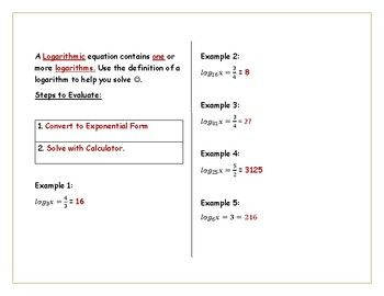 Solving Logarithms Inb Solving Inb Interactive Notebooks