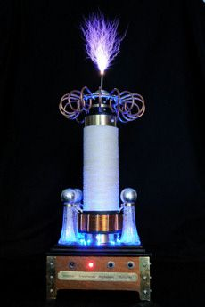 Steampunk tesla coil pictures the Aetheriser | Tesla coil