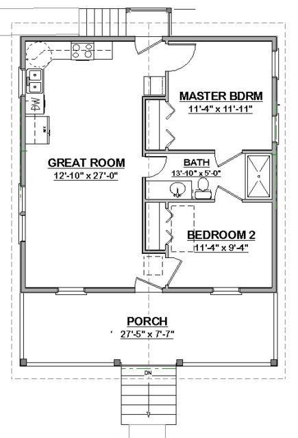 On Sale Custom House Small Home Blueprints Plans 2 Bedroom Cottage 784sf Pdf Tiny House Floor Plans House Blueprints House Floor Plans