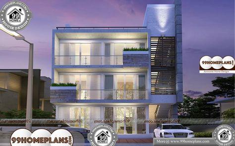 3 Storey Apartment Building Design 30 X 40 Narrow Block Plan Collection Apartment Building Bedroom House Plans