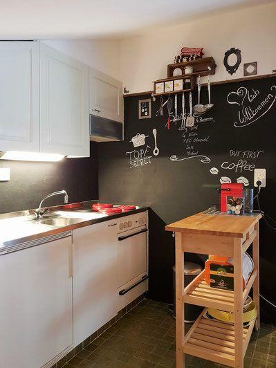 Küche neu gestalten mit Tafelfarbe, Küchenrückwand | Fewo in ...