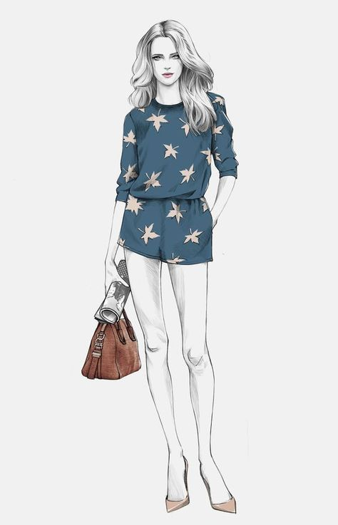 Street style by illustration Alex Tang.