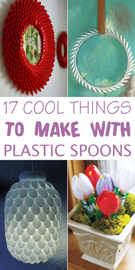 17 Cool Things To Make With Plastic Spoons Diy Crafts