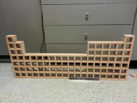 Making a Wooden Periodic Table Display for Element Collection