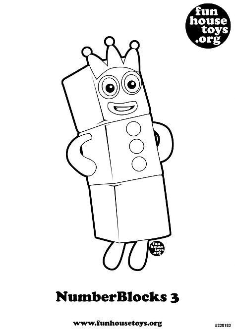 Numberblocks 3 Printable Coloring Page Insect Crafts Free Coloring Pages Printables Free Kids