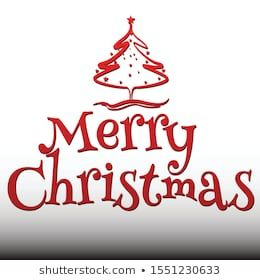 Similar Images Stock Photos Vectors Of Vector Illustration Of Merry Christmas Lettering Text Christmas Lettering Christmas Tree Design Christmas Background