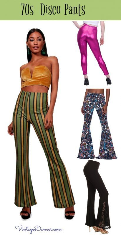 80/'s Funky Metallic 3 Pc Pant Outfit Gold Multi Pants Top /& Belt Retro Costume M