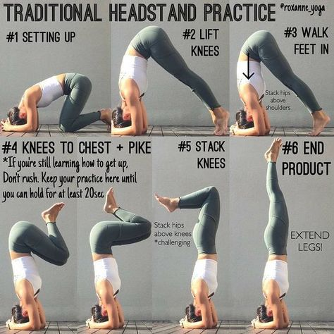 Traditional Headstand Practice By @roxane_yoga click here for the NAMASTE Hoodie,T-Shirts,Sweatshirt ..