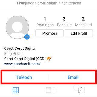 Cara Menambahkan Tombol Telepon Email Alamat Di Instagram Telepon Tombol Blog