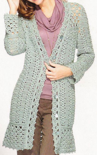 Cozy Crochet Coat by HooksandNeedles, via Flickr