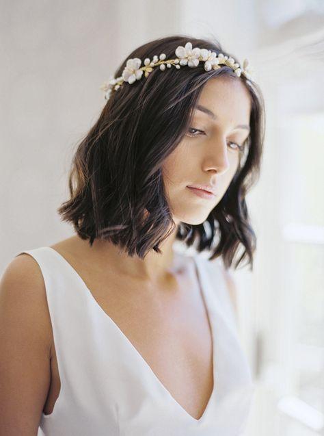 KARIN   Floral Wedding Headpiece