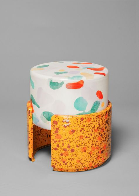 Tabouret Never Too Much, Kueng Caputo (Salon Design Miami/ Basel Caputo, Never too much (chairs in leather and enamel