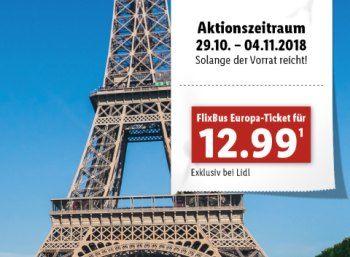 Lidl Flixbus Tickets Fur Pauschal 12 99 Euro Einfache Fahrt Zu