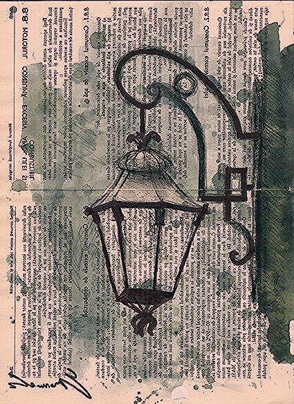 Imprimer Dessin A L Encre Aquarelle Sketch Postercollage By Rcolo