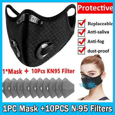 Uk Reusable Face Cover With Breath Valve 10p Filters Mask Sports Mouth Shield In 2020 Face Cover Face Full Face Mask
